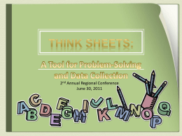 Think Sheets: - LiteracyAccess Online