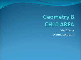 Geometry B CH10 AREA - Southgate Community School District
