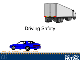 Driving Safety - New Mexico Mutual