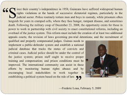 Guinea after the Coup: New Opportunities for Judicial Reform