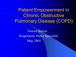Patient Empowerment in Chronic Obstructive Pulmonary Disease