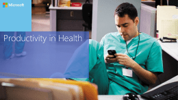 Health-Productivity in Health-To Customer Presentation-FY13