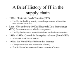 A Brief History of IT in the supply chain