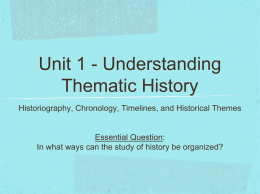 Understanding Thematic History