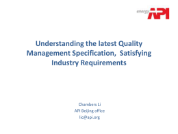 Understanding the latest Quality Management Specification