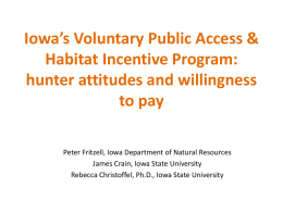 Voluntary Public Access and Habitat Incentive Program