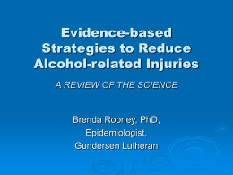 Evidence-based strategies to reduce alcohol