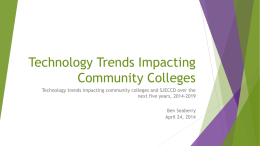 Technology Trends in Higher Education 4-24-14