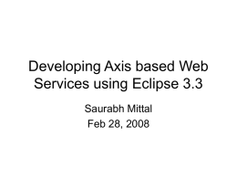 Developing Axis based Web Services