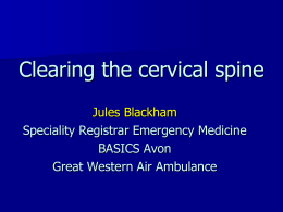Clearing the cervical spine in conscious patients