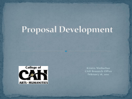 Proposal Development - University of Central Florida