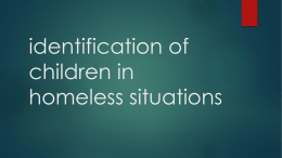 Identification of children in homeless situations