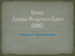 Konsep Database Management System (DBMS)