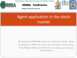 AN AGENT BASED STOCK PRICE PREDICTION MODEL FOR …