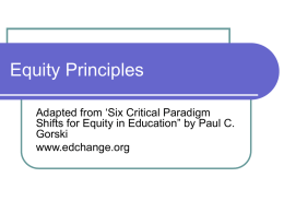 Equity Principles - Salt Lake City School District