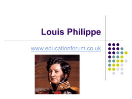 Louis Philippe - Education Forum