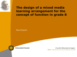 The design of a mixed media learning arrangement for the