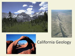 California Geology - Porterville Unified School District