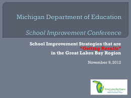 Governor's Education Summit - Great Lakes Bay Instruction