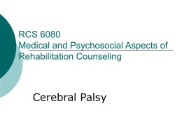 RCS 6080 Medical and Psychosocial Aspects of