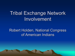 NCAI Exchange Network Strategy Discussion