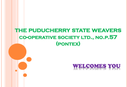 THE PONDICHERRY STATE WEAVERS' CO