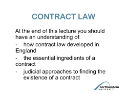 Contract Law 1 PowerPoint
