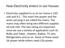 How Electricity enters in our houses