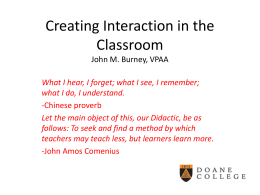 Creating More Interaction in the Classroom