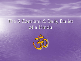 The 5 Constant & Daily Duties of a Hindu