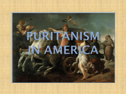 Puritanism in America - Harpursville Middle School