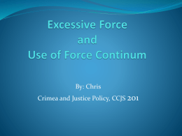 Excessive Force and Use of Force Continum