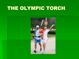 THE OLYMPIC TORCH - Virtual Voices Village
