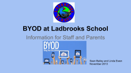 BYOD at Ladbrooks School