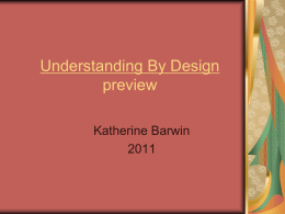 Understanding By Design preview