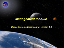 Space Systems Engineering: Management Module