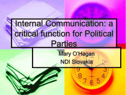 Internal Communication: a critical function for Political