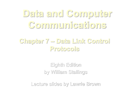 Chapter 7 - William Stallings, Data and Computer