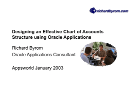 Designing an Effective Chart of Accounts Structure using