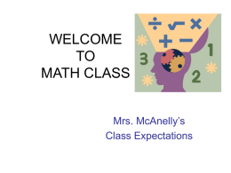 class expectations - Mrs. McAnelly's Online Math Resource