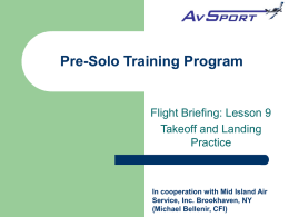 Sport Pilot Training Program