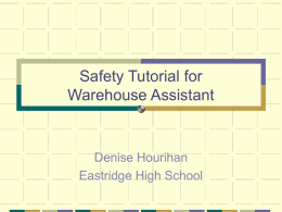 Safety Tutorial for Job Title - WECA