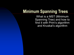Minimum Spanning Trees - University of Cape Town