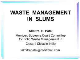WASTE MANAGEMENT PRACTICES AND POLICY IN INDIA …