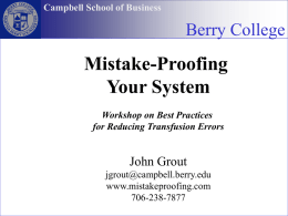 Three tools - John Grout's Mistake