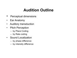 Audition Outline - Villanova University