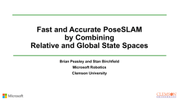 Fast and Accurate PoseSLAM by Combining Relative and
