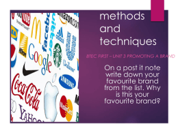 Branding methods and techniques