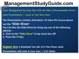marketing-mix-demo - Management Study Guide