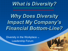 What is Diversity? - Diversity in the Workplace